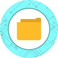 Conception d'icône de dossier vecteur