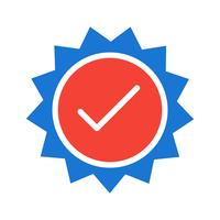 Conception d'icône de timbre valide