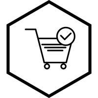 Panier vérifié Articles Icon Design