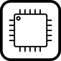 Conception d'icône de processeur vecteur