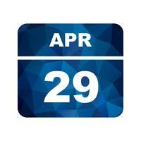 29 avril Calendrier d'une journée