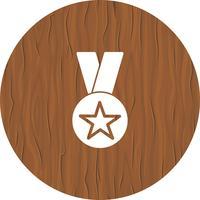 conception d'icône de récompense vecteur