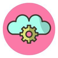 Conception de l'icône des paramètres du nuage vecteur