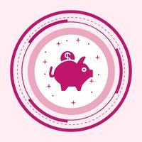 Tirelire Icône Design vecteur