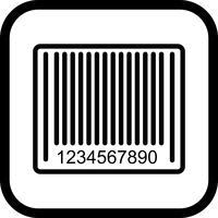 Conception d'icône de code à barres vecteur