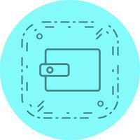 Portefeuille Icon Design vecteur