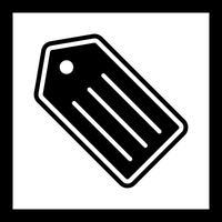 conception d'icône tag vecteur