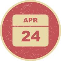 24 avril Calendrier d'une journée
