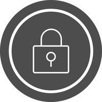 Verrouiller la conception de l'icône vecteur
