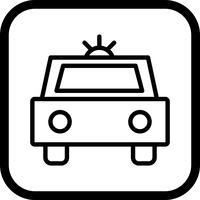 Police Icon Car Design vecteur