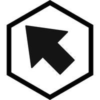 Conception d'icône de curseur vecteur