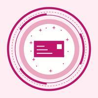 Conception d'icône de carte d'identité