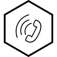 Conception d'icône d'appel actif vecteur