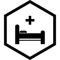 Conception d'icônes de lit vecteur