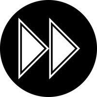 Conception d'icône de flèches vers l'avant