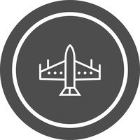 conception d'icône de jet de chasse