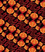 Swirl motif floral sans soudure. Fond ornemental dans le style russe vecteur