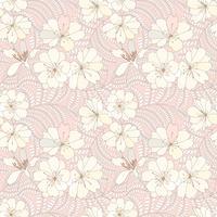 Floral pattern sans soudure. Fond de fleurs. Fleurir la texture du jardin.