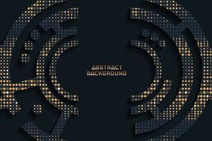 Abstrait texture noir et or, dessin vectoriel.