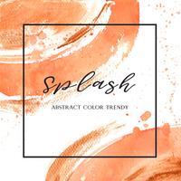 Couleur corail Trendy coquille de mer aquarelle et or texture gouache impression fond d'écran vectoriel design illustration pour bannière, affiche, magazine