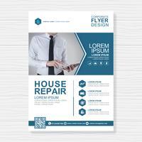 Modèle de couverture de l'entreprise a4 et icône plate pour une conception de rapport et de brochure, dépliant, bannière, décoration de tracts pour illustration vectorielle de présentation et d'impression