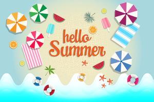 Bannière et fond de vente d'été