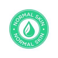Icône de peau normale. vecteur