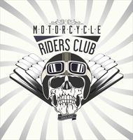 Fond de moto vintage vecteur