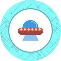 conception d'icône ovni vecteur