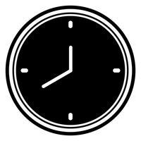 Conception d'icône d'horloge vecteur