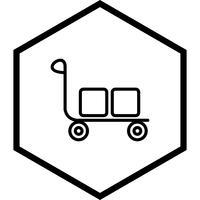 Conception d'icône de chariot vecteur