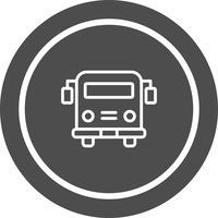 Autobus scolaire Icon Design vecteur