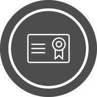 Certificat Icône Design
