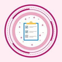 liste icône design vecteur