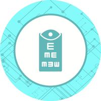conception d'icône de test oculaire