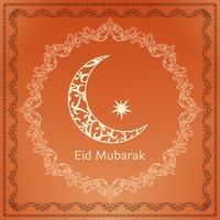 Abstrait Eid Mubarak fond de voeux islamique vecteur