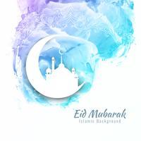Abstrait Eid Mubarak design fond aquarelle vecteur