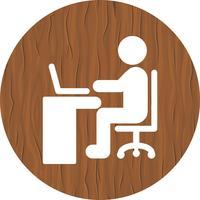 Utilisation de l'icône de l'ordinateur portable vecteur