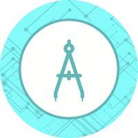 conception d'icône boussole vecteur