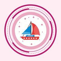 Conception d'icône de yacht