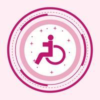 Design d'icônes handicapés vecteur