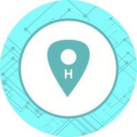Icône d'emplacement de l'hôpital