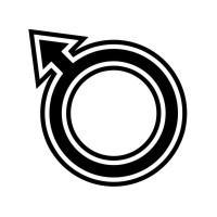 Conception d'icône masculine vecteur