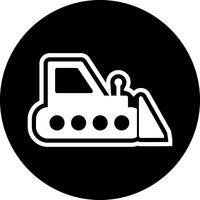 conception d'icône bulldozer