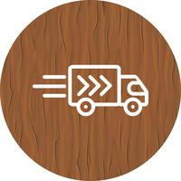 Conception d'icône de camion de livraison