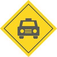 conception d'icône de taxi vecteur