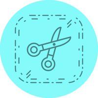 conception d'icône de ciseaux