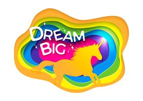 Mythology illustration set de silhouette de Licorne vecteur