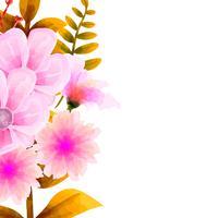 Aquarelle de bouquet, ensemble floral Vector floral. Collection florale colorée avec des feuilles et des fleurs, dessin à l'aquarelle.