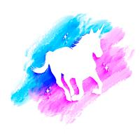 Mythology illustration set de silhouette de Licorne